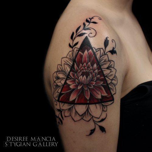 geometric-flower-dahlia-tattoo