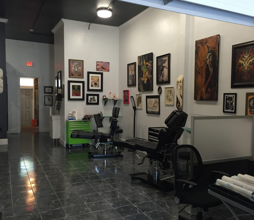 stygian gallery tattoo area
